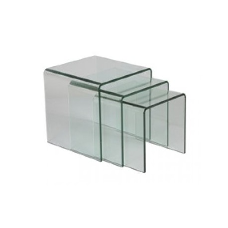 Tables gigognes en verre trempe - Table cuisine verre trempe ...