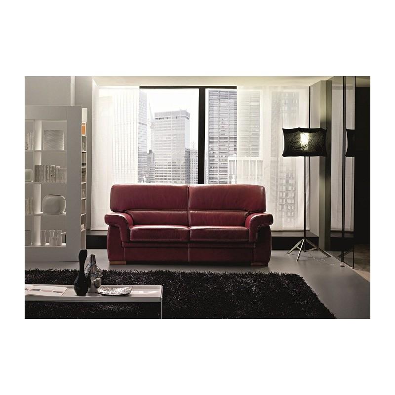 canap 3 places cuir bordeaux prix bas. Black Bedroom Furniture Sets. Home Design Ideas