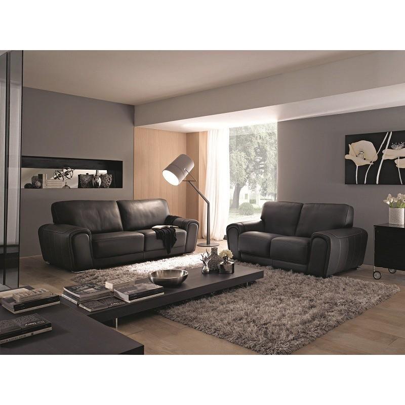 canap cuir 3 places. Black Bedroom Furniture Sets. Home Design Ideas