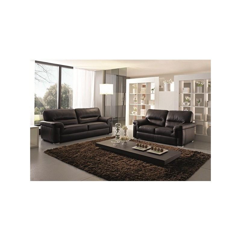 canap 3 place cuir taupe italien prix poins cher livraison a domicile. Black Bedroom Furniture Sets. Home Design Ideas
