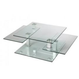 Table basse en verre carrée