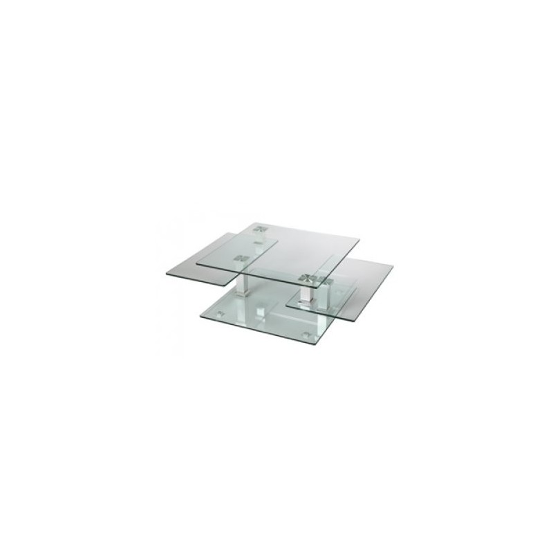 Table basse carree en verre dessus - Table basse carree verre ...