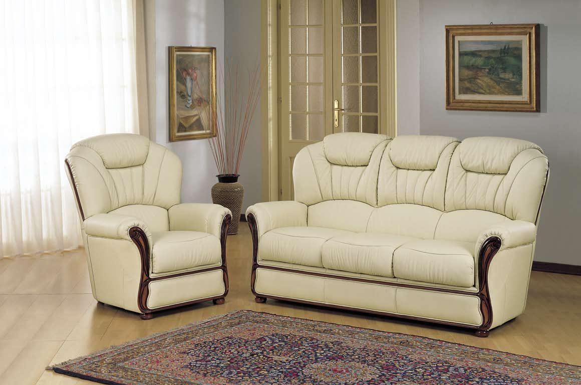 salon 3 pieces canape relax 2 fauteuil en cuir blanc vert bleu