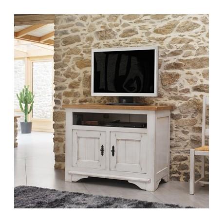 meuble tv 100 ch ne blanchi. Black Bedroom Furniture Sets. Home Design Ideas