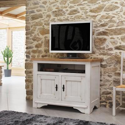 Meuble Chene Blanchi Meuble-tv-100%-chêne-blanchi
