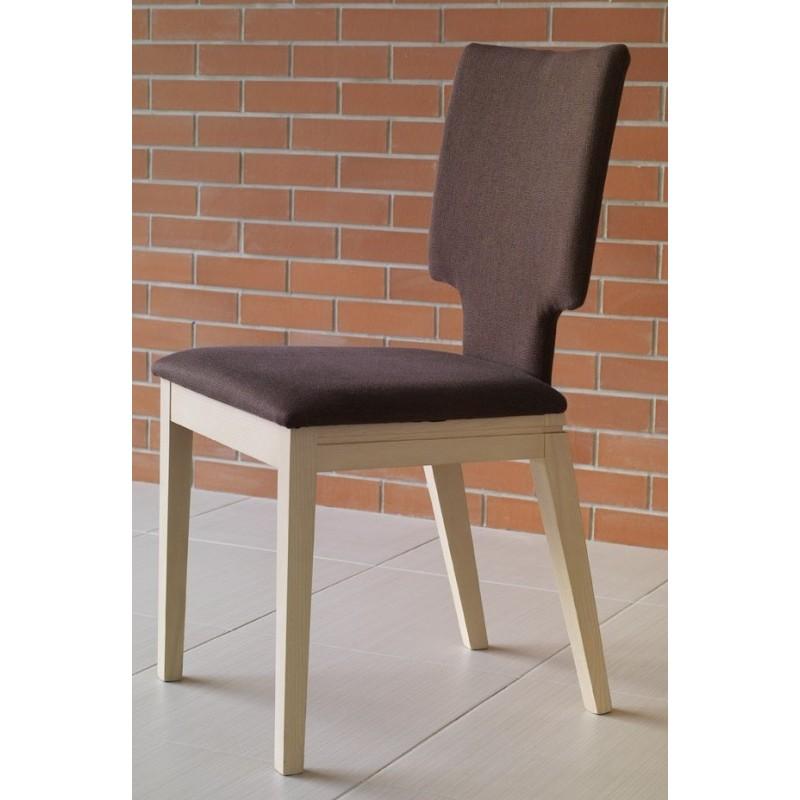 chaises bois et tissu couleur marron. Black Bedroom Furniture Sets. Home Design Ideas