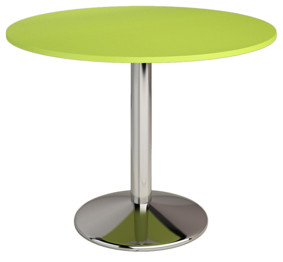 Table ronde pas cher for Table ronde plateau verre pied central