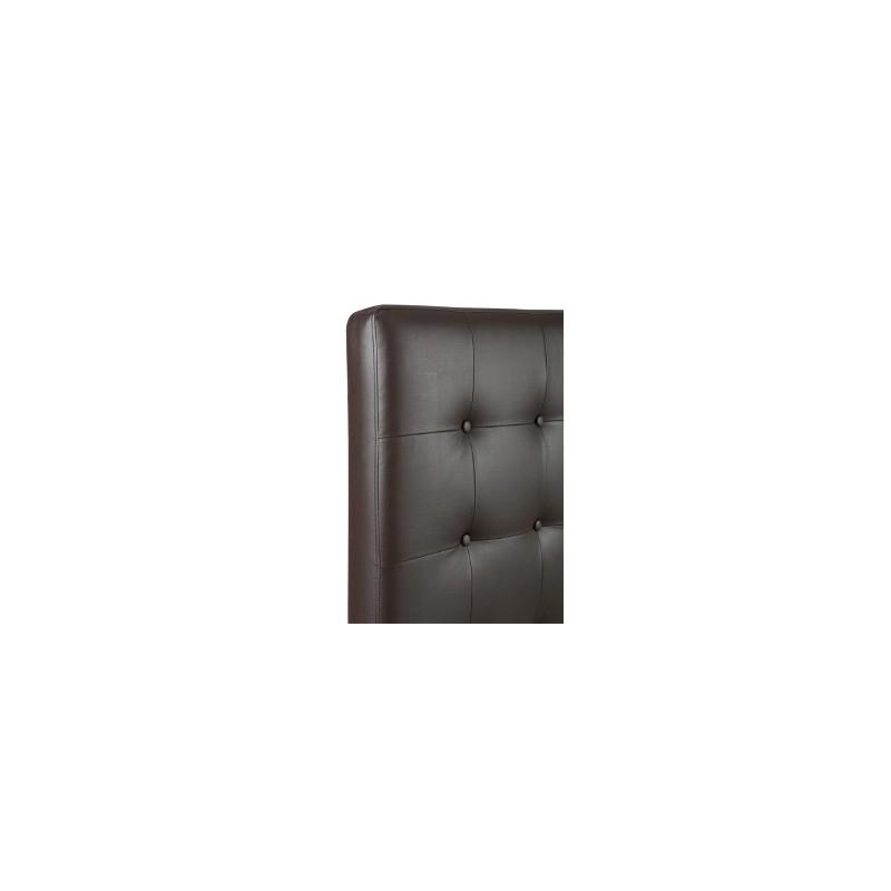 tete de lit capitonnee marron prix promo. Black Bedroom Furniture Sets. Home Design Ideas