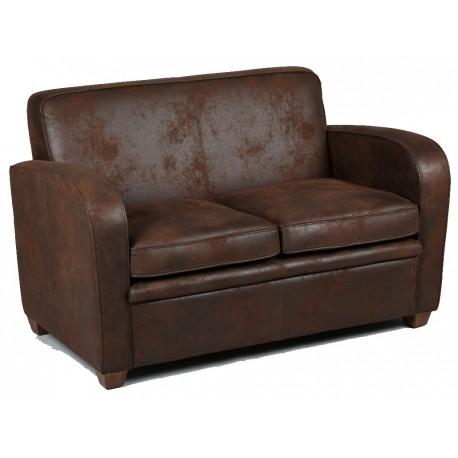 canap 2 places en microfibre marron prix solde. Black Bedroom Furniture Sets. Home Design Ideas