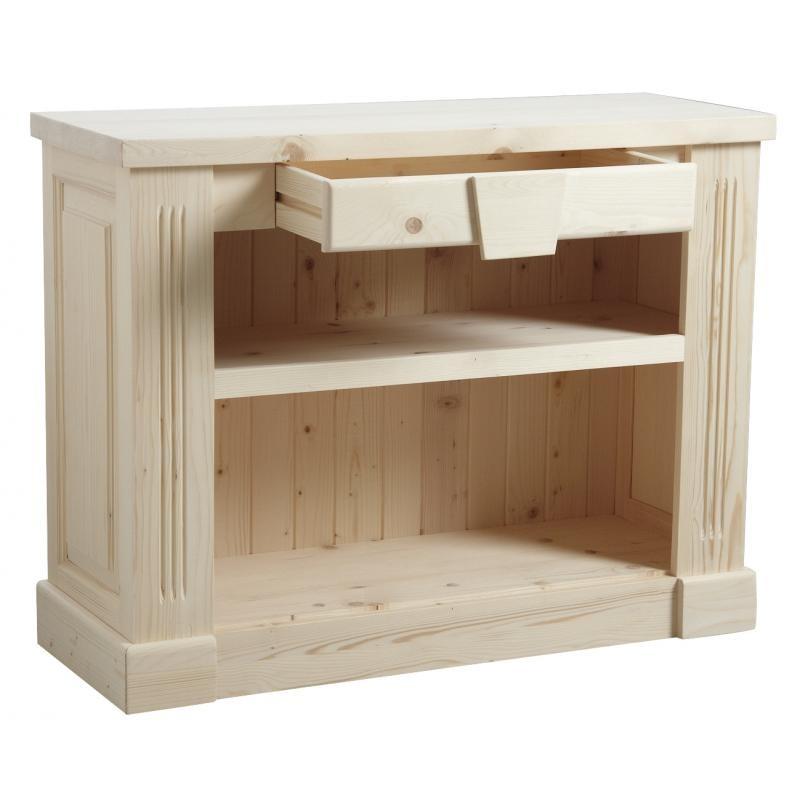 Meuble console - Meuble en bois brut a peindre pas cher ...