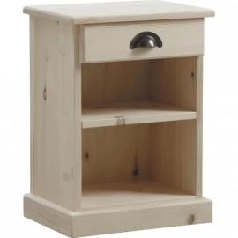 Table de nuit en bois brut