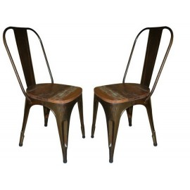 Chaises-metal-assise-bois