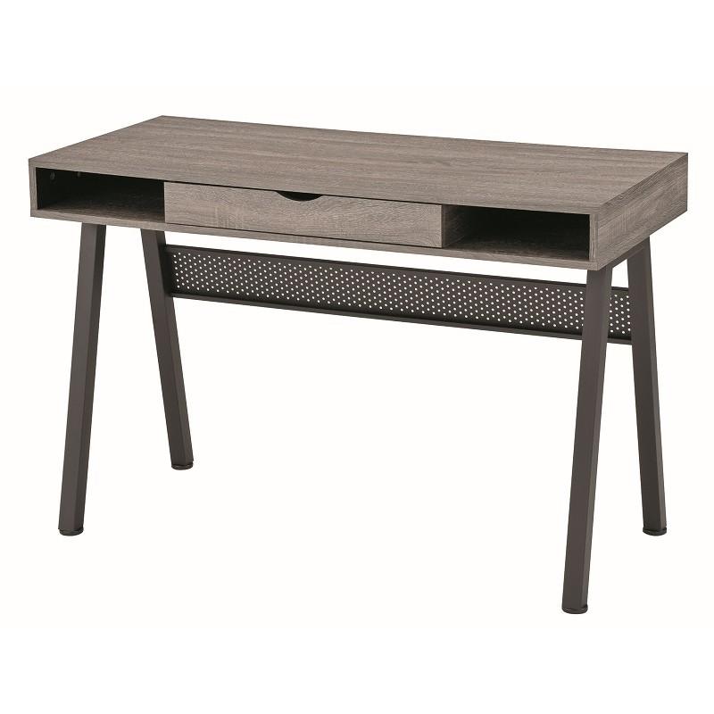bureaux caisson en medium pieds en acier 1 tiroir moins cher. Black Bedroom Furniture Sets. Home Design Ideas