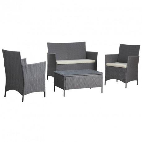 Canap 2 fauteuils 1 table en resine pour extrieur et veranda prix remise - Salon de veranda ...
