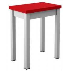 Petite table de cuisine plateau rouge