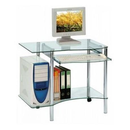 Petit bureau informatique en verre 189€