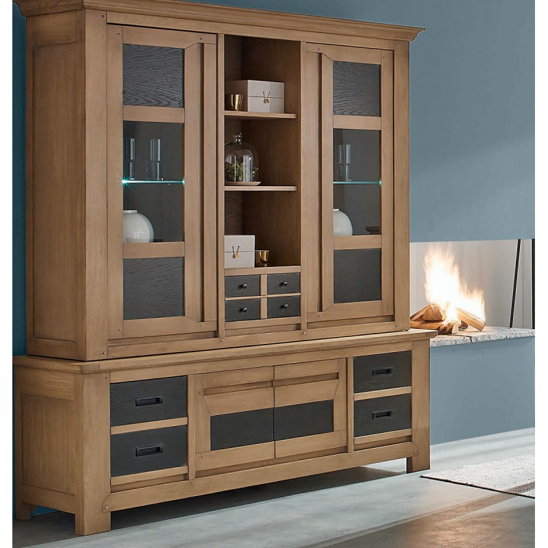 bibliotheque bicolor en chene massif chevill portes. Black Bedroom Furniture Sets. Home Design Ideas
