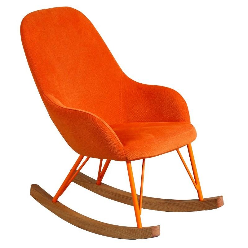 petit rocking chair orange pour enfant. Black Bedroom Furniture Sets. Home Design Ideas