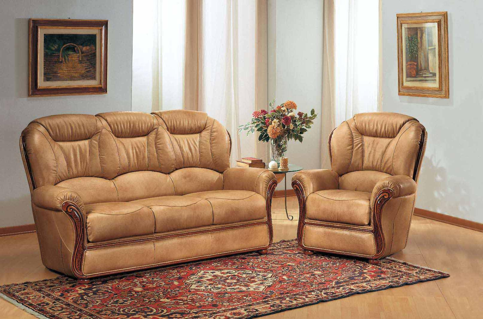 salon cuir 3 pieces fauteuils