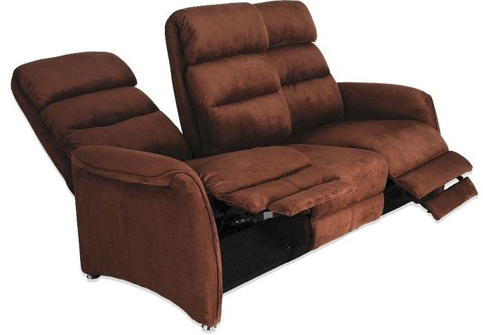 Canapé-relax(microfibre-marron