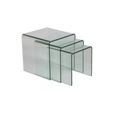 Tables gigogne en verre trempé