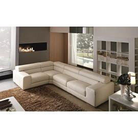 Canapé d'angle en cuir ref SASSARI