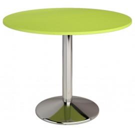 Table ronde de cuisine diametre 90 plateau melamine Vert