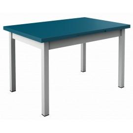 Table de cuisine avec rallonge - bleu