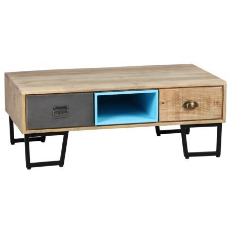Table basse de salon pieds métal