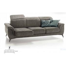 Canapé relax  3 places en tissu a têtières relevables