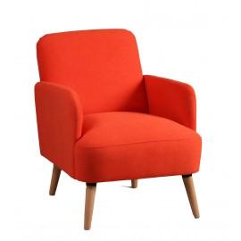 Petit fauteuil en tissu orange