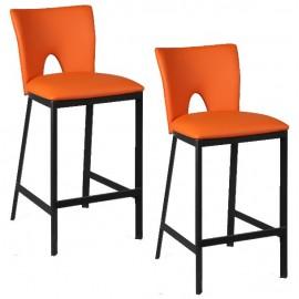 Chaises hautes assise orange