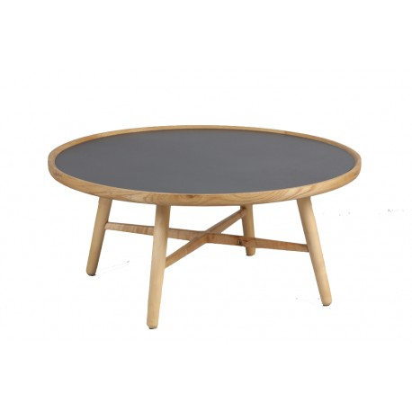 table basse ronde grise