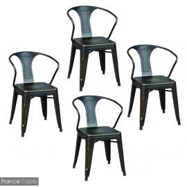 Chaises acier style Bistrot