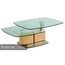 Table basse de salon verre