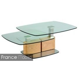 Table basse de salon verre