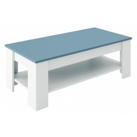 Table basse réctangulaire bicolor