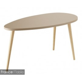 Table basse ovale bicolor