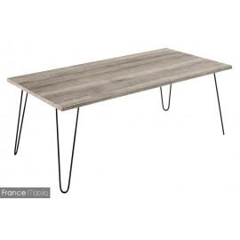 Table basse pieds forme épingles
