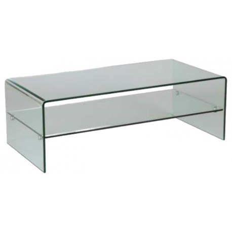 Table desalon rectangulaire en-verre-courbe