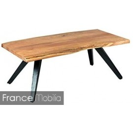 Table basse de salon bois metal