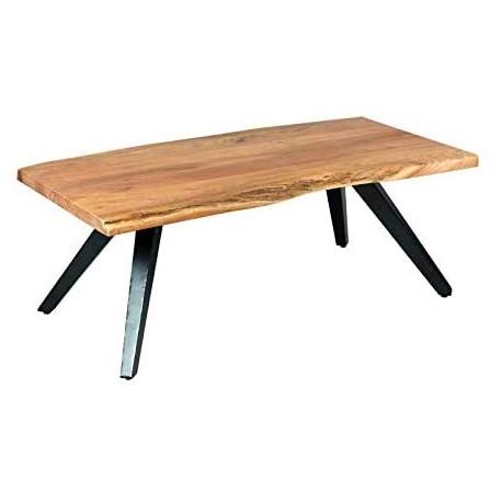 Table de salon sur pieds métal inclinés