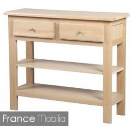 Console bois massif chevillé et blanchi