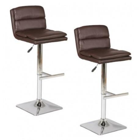 Tabourets de bar pied et assise carrés