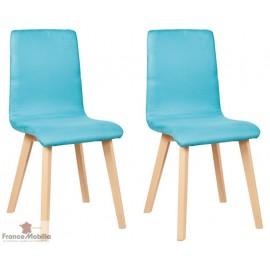 Chaise de  salle a manger  tissu Turquoise