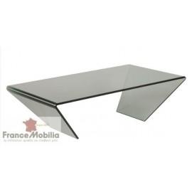 Table basse en verre biseauté
