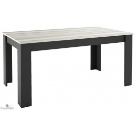 Table rectangulaire sur mesure bicolore