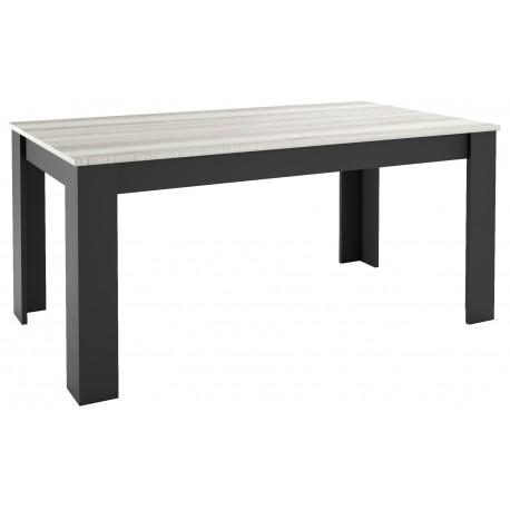 Table rectangulaire sur mesure bicolore