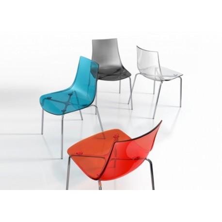 chaise plexiglass rouge