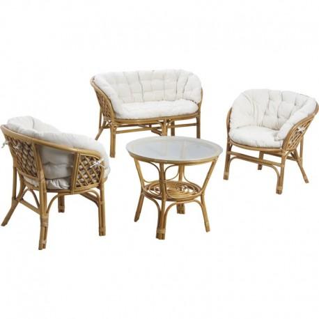 mobilier de jardin rotin